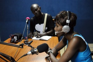 Sister Fa and Bebe at ZigFM Ziguinchor, Senegal 9/5/12 (c) Alicia Field