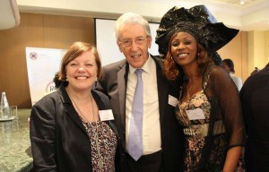 Clair Whitaker, Chair of the RCS and Lord Howell with Sister Fa