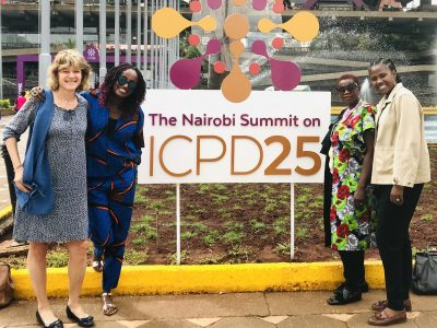 At ICPD in Nairobi, Kenya.